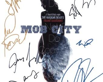 Mob City signed Neal McDonough Edward Burns Milo Ventimiglia Amin Joseph Andrew Rothenberg Jeffrey  8X10 photo picture poster autograph RP