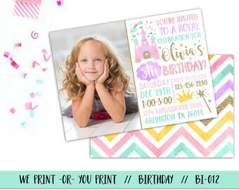 Princess Birthday Invitation, Princess Party Invitation, Princess Invite, Princess Invitation, Royal Invitation, Princess Birthday Party