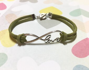 Infinity of Love Leather Bracelet, Infinity Love Bracelet, Leather Bracelet, BBF Gift, Friendship gift, Gift for Mom, Christmas Gift