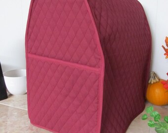 Burgundy Stand Mixer Cover for Kitchen Aid Mixer 6 Qt Small Appliance Cover Made To Order