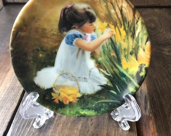"""Donald Zolan Miniature Plate """" Flowers for Mother"""""""