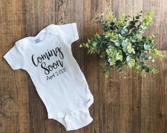 Pregnancy Announcement Onesie | Pregnancy Announcement | Coming Soon | Personalized Pregnancy Announcement | Pregnancy Announcement Shirt