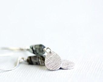 silver earrings, silver teardrop earrings, elegant jewelry, fine silver jewellery, veria