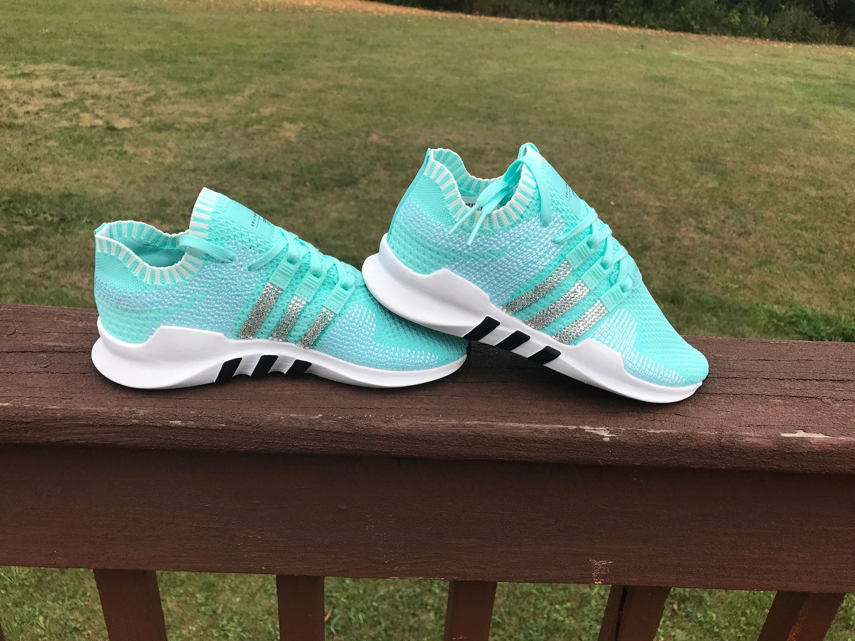 Swarovski adidas Aqua Adidas - Swarovski Blinged Adidas Aqua Chaussures femmes énergie Primeknit ADV Support EQT Originals ac4068