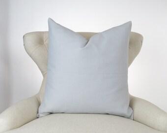 Throw Pillow, Decorative Cushion, Euro Sham, Accent Pillow, Plain Pillow, Solid Color -MANY SIZES- Dyed Storm Gray, Premier Prints