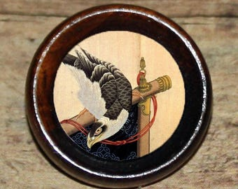 Asian HAWK falcon eagle bird Pendant or Brooch or Ring or Earrings or Tie Tack or Cuff Links
