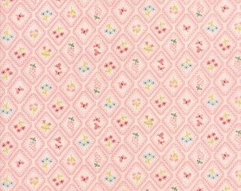 Home Sweet Home - Pink Wallpaper Fabric - Stacy Iest Hsu - Sold by Half Yard