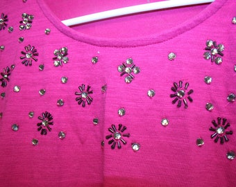 Vintage Coldwater Creek Ladies pullover sweater with embellishment - small