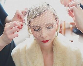 Bandeau Veil, Birdcage Veil, Wedding Veil, Bridal Veil, Russian Veil, Bird Cage Veil