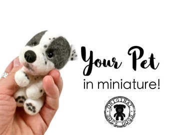 Felted Dog, Needle Felted Dog, Needle Felted Cat, Needle Felted Animal, Pet Portrait, Pet Lover Gift, Pet Gift, Dog Portrait, Cat Portrait