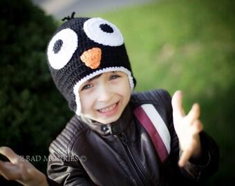 Penguin hat - Christmas hat, Toddler Winter Hat, Toddler Hat, Toddler Christmas Hat, Baby Christmas hat