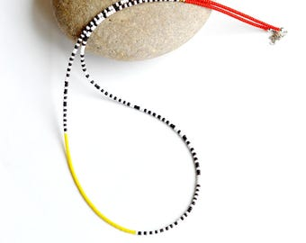 African necklace, Seed bead necklace, African jewelry, Beaded seed bead necklace, Simple necklace, African seed bead jewelry, Colorful beads