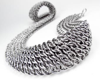 Wide Chainmaille Necklace - GSG Pattern