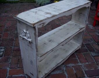 Book Case - Wood Furniture - Wooden Shelf - Bookcase - Farmhouse Chic - Shabby Furniture - Chic Home Decor - Rustic - Bookshelf - Shelving