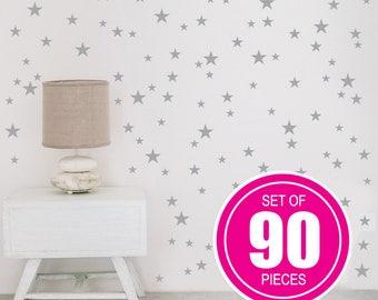 Gold Star Decals, Star Wall Decal, Nursery Wall Decals, Star Wall Stickers, Baby Room, Star Wall Decal, Stars Decal Set, Nursery Wall Decal