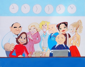 The MARY TYLER MOORE Show limited edition art print by Dave Woodman