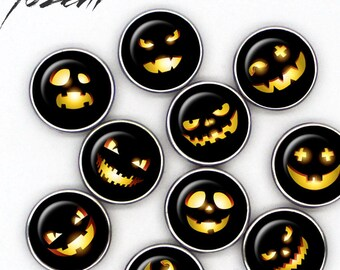 """Snap Button """"Halloween 1"""", Chunks, Charms interchangeables, Noosa style"""