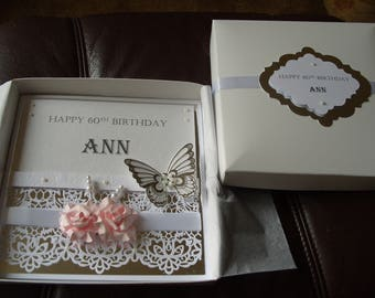 Handmade Personalised  Birthday Card  Made for Any Age
