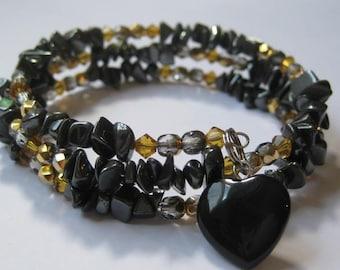 Grounding Goddess Hematite Charm Bracelet