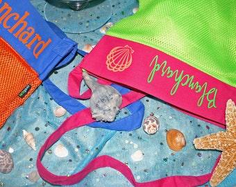 Sea Shell collecting bags | Sea Shell Bag | Mesh Bag | Beach Bag