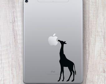 Giraffe Sticker iPad, iPad decal, Nature Animal Wild Giraffe Sticker, Tropical Vibes