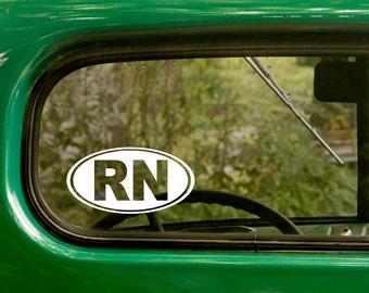 Oval RN Decal, Car Decal, RN Sticker, Registered Nurse Sticker, Euro Decal, Laptop Sticker, Oval Sticker, Bumper, Vinyl Decal, Car Sticker