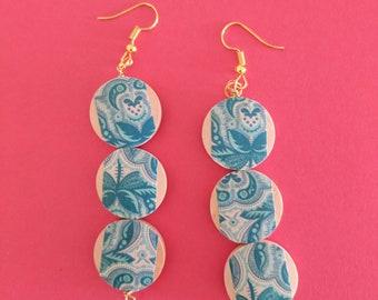 Nature in blue earrings
