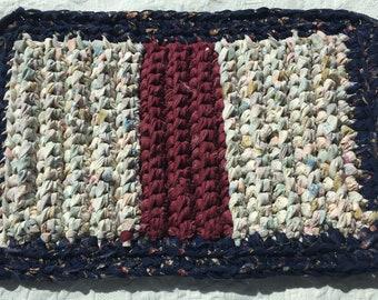 Rag Crochet Trivet/ Crocheted Table Runner
