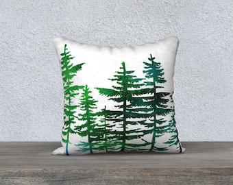"Pine Trees 18""x18"" Pillow Case"
