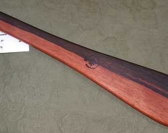 Macassar Ebony Miss Rose Spanking Paddle Exotic & RARE Hardwood Wood - Flare or Taffy Paddle ME075