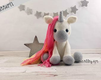 unicorn crochet pattern, crochet unicorn, amigurumi, unicorn doll, unicorn toy