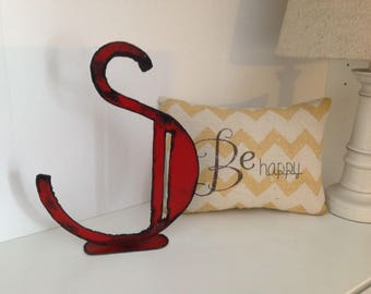 Metal Letter S, Distressed Letter, Art Deco Font, Metal Letters 8 inches, Initial, Vintage Letters