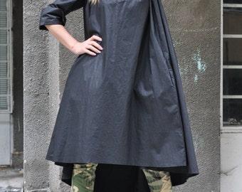 Women Dress, Black Long Dress, Daywear Oversize  Dress, Maxi Black Kaftan, Plus size top design by EUGfashion - DR0079LE