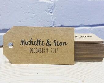 Custom Wedding Favor Swing Tags, Wedding Bomboniere Tags, Swing Tags, Wedding Gift Tags, Personalised Thank You Tags, Wedding Favours