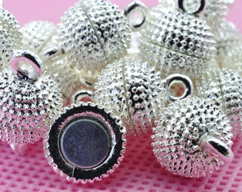 10 sets of Silver plated Magnetic Clasp in 10mm