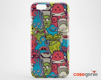 Aliens and Monsters Case for iPhone X 8 PLUS 7 6 6s 5 5s 5c SE  Samsung Galaxy S9 S8 S7 S6 Edge S5 Note
