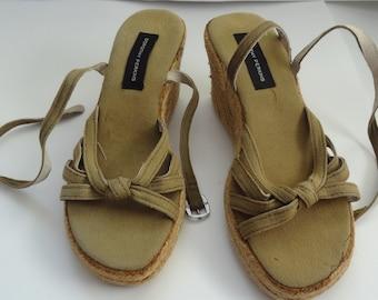 Espadrille Sandals, Espadrilles,  Summer shoes, Fabric Shoes, Women's Sandals,Khaki color shoes, Greek Sandals,Size 37 EU/4UK/5,5US/23,5