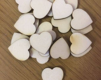 20 x 2 cm x 3 mm Birch Hearts Unfinished, Wooden Hearts, Scrap Booking, Valentines, Card Making,