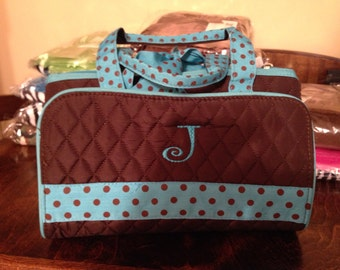 Quilted makeup bags