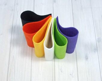 Felt Bundle - Tricks & Treats - Wool Blend Felt Sheets, 9 x 12 inches