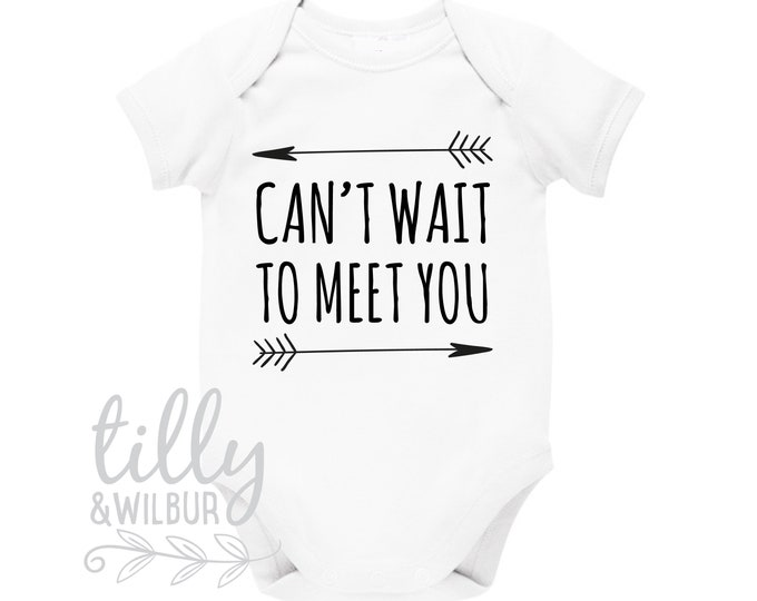 Can't Wait To Meet You Baby Bodysuit