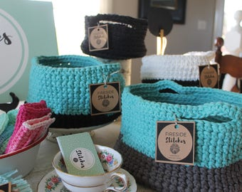Decorative Storage Basket//Large//Crochet//Handmade//Home Decor