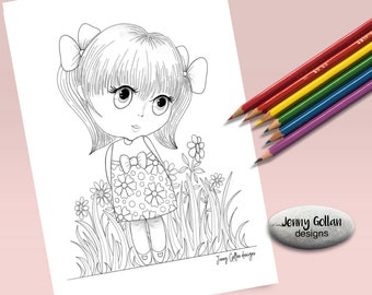 Printable Colouring Page Petite