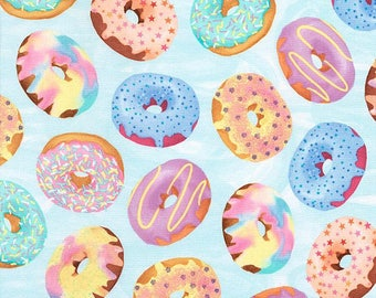 Frosted Donuts by Timeless Treasures/Multi Color/Cotton/Fabrics/Sewing/Quilting