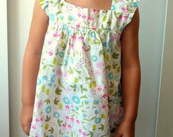 Liberty ruffled sleeveless blouse