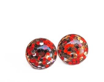 POP Earrings / Bourbon / Color POP / Handmade Jewelry / Resin Jewelry