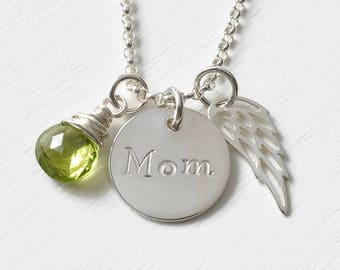 Loss of Mom Sympathy Gift / Necklace for Loss of Mother / Condolence Gift / Personalized Memorial Jewelry Sterling Silver