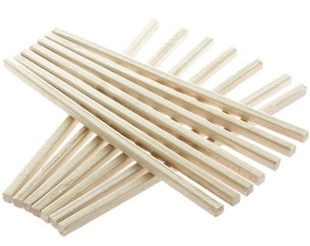 Square Wooden Toffee Apple Sticks 140mm long