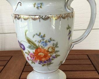 SALE!!  Rosenthal Selb-Bavaria Vintage Floral China Pitcher