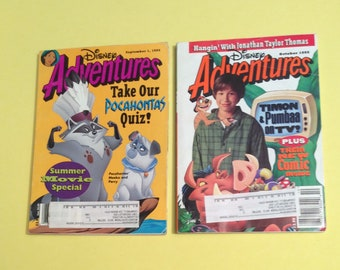 Vintage Disney Adventures Issues September and October 1995